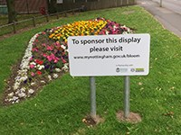 Example of a roundabout sponsorship display
