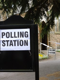 Picture of the outside of a Polling Station