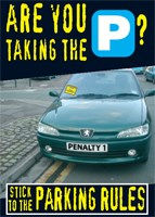 Stick to the parking rules poster