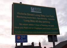Photo of car park sign
