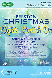 Beeston Christmas: Link to the Christmas Lights is on in Beeston