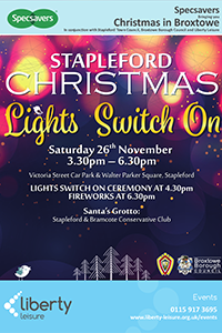 Stapleford Christmas: Link to Stapleford is all set for Christmas 2016