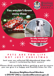 pets are for life poster