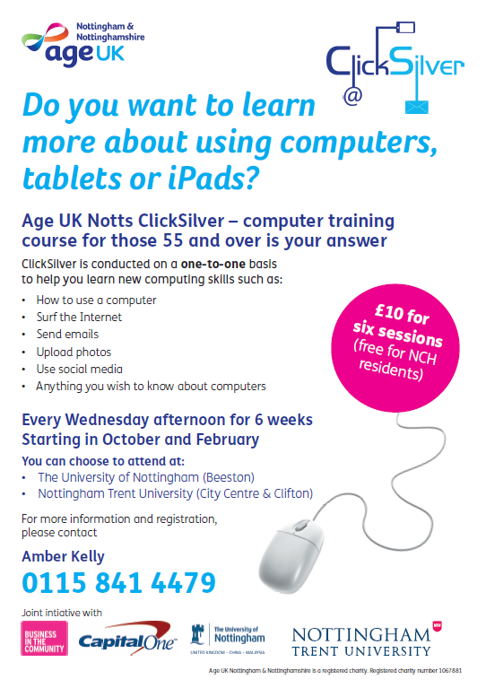 Computer Course for over 55's event.