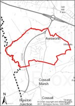 Map of Awsworth Parish