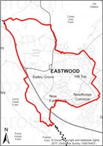 Map of Eastwood Parish