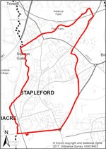 Map of Stapleford Parish