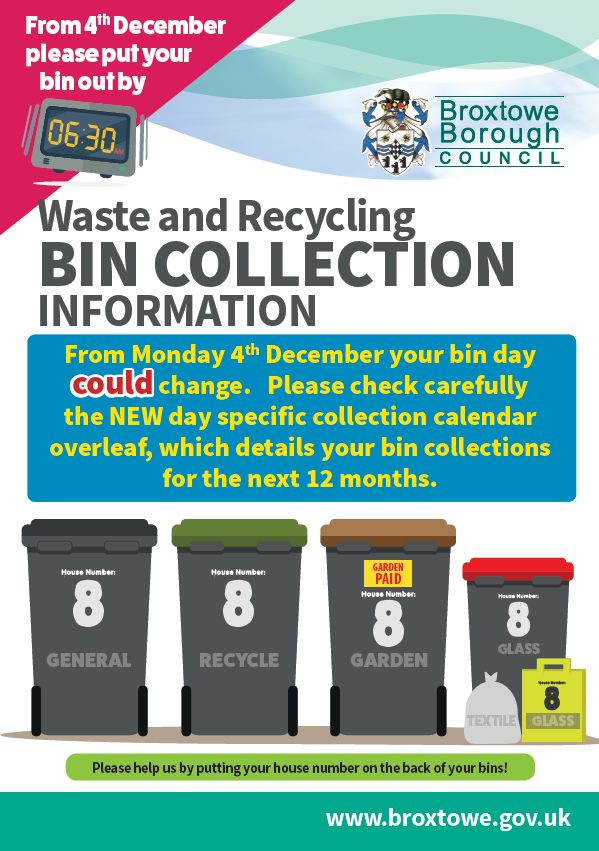 Waste and Recycling Bin Collection Information