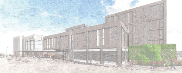 Artists Impression of Residential Building on Beeston Square