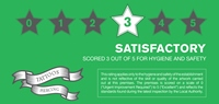 Hygiene Rating Sticker 3 Satisfactory