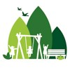 Parks and Open Spaces Icon (Trees and children playing)