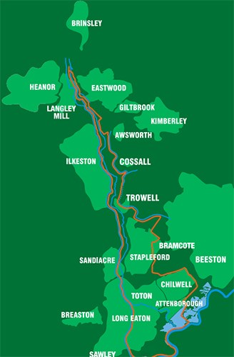 Erewash Valley Trail Map