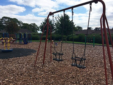 Swings and Play equipment at Swiney Way Open Space