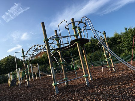 Climbing Frame at Epsom Road Play Area in Banks Road Open Space