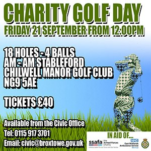 Charity Golf Day Advert