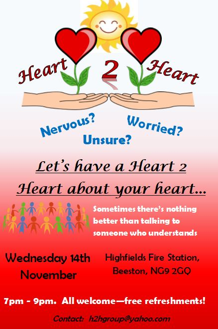 Heart 2 Heart Evening Support Group event.
