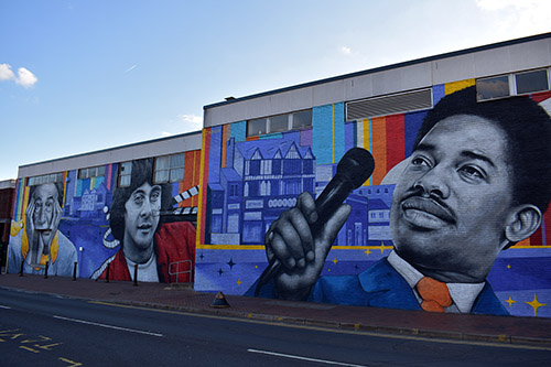 The complete Beeston Wall as viewed from the end with Edwin Starr