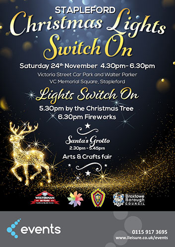 Stapleford Christmas Lights Switch On Poster