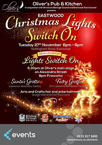 Eastwood Christmas Lights Switch On Poster