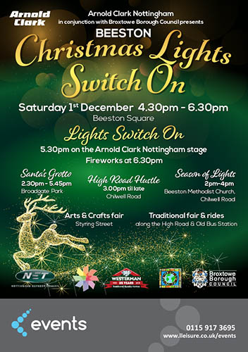 Beeston Christmas Lights Switch On Poster