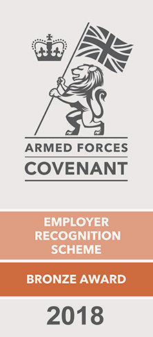 Armed Forces Covenant Employer Recognition Scheme Bronze Award 2018