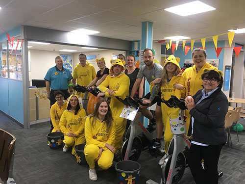 Kimberley Leisure Centre Staff helping raise money for Children In Need