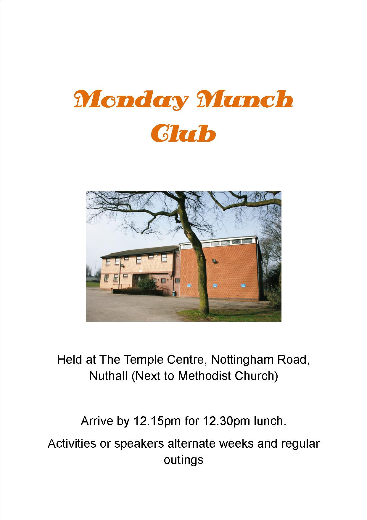 Monday Munch Club event.