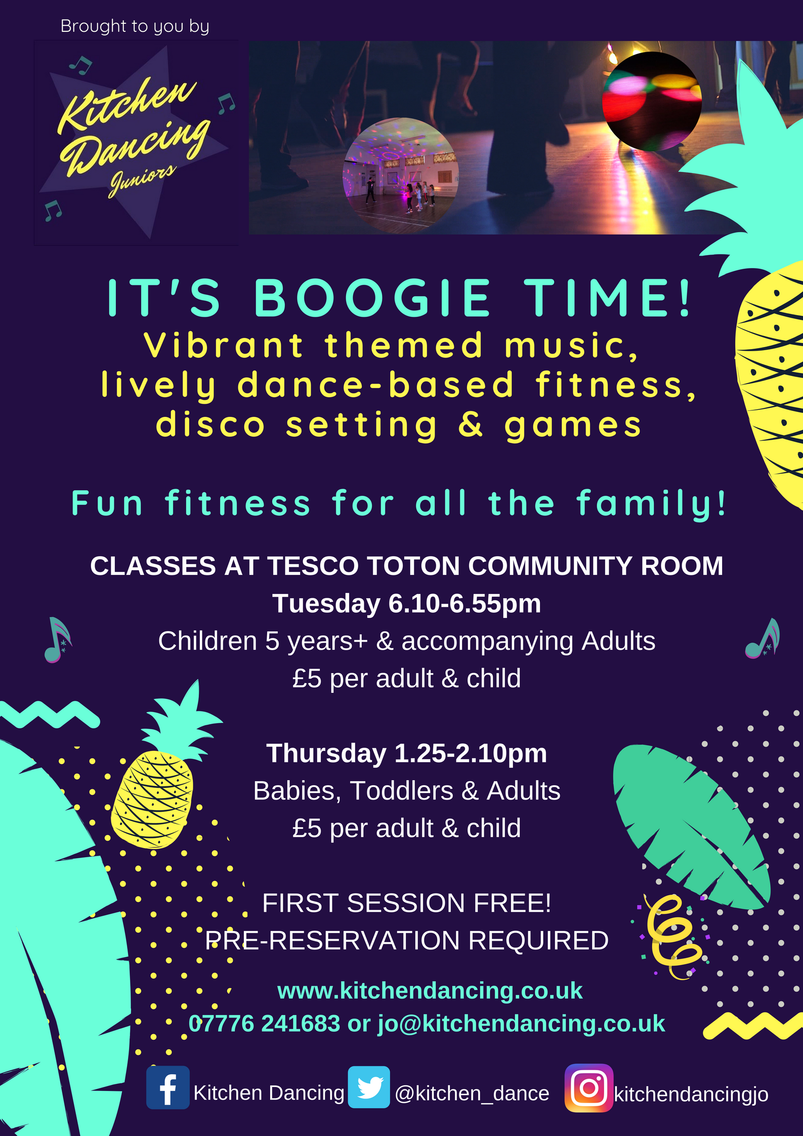 Family Boogie session (Adults & children 0-4 yrs) event.