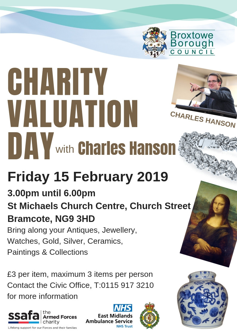 Charity Valuation Day with Charles Hanson event.