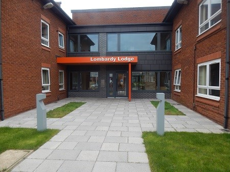 Outside view of Lombardy Lodge, Toton Scheme
