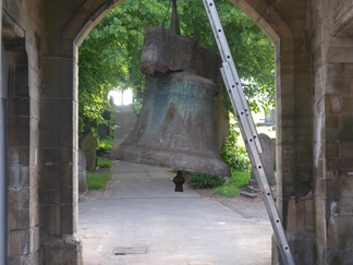 The bell before it was restored