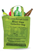 Collection Glass in green bag