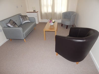 Living Room in one of the Independent Living Schemes