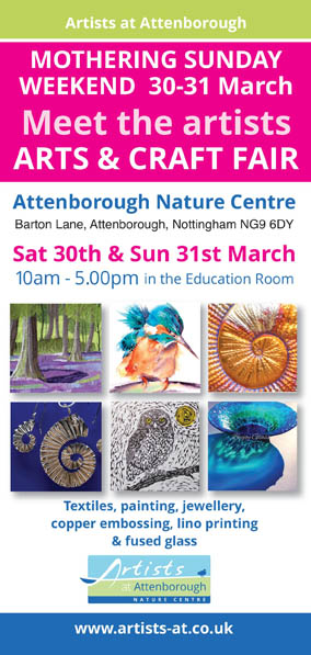Mothering Sunday Weekend Meet the Artists Arts and Craft Fair event.