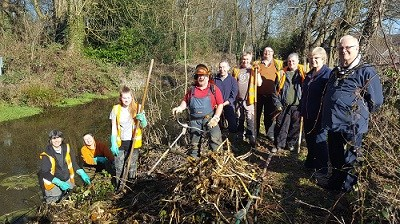 Volunteers Clearing Pond at Watnall Spinney