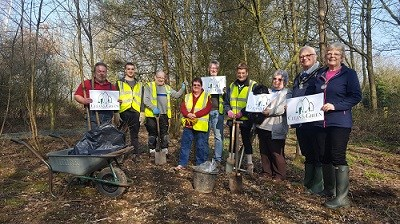 Volunteers plant wildflowers at Brinsley Headstocks