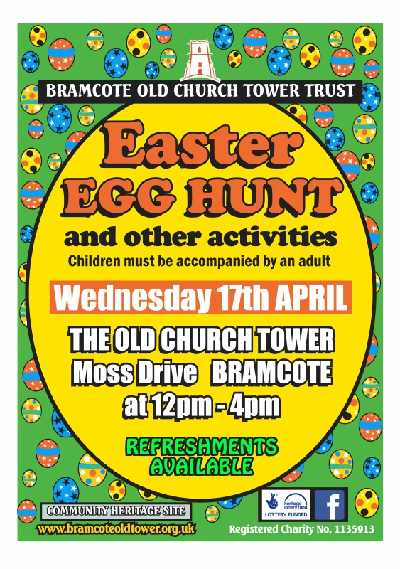 Bramcote Old Church Tower Trust EASTER EGG HUNT  event.