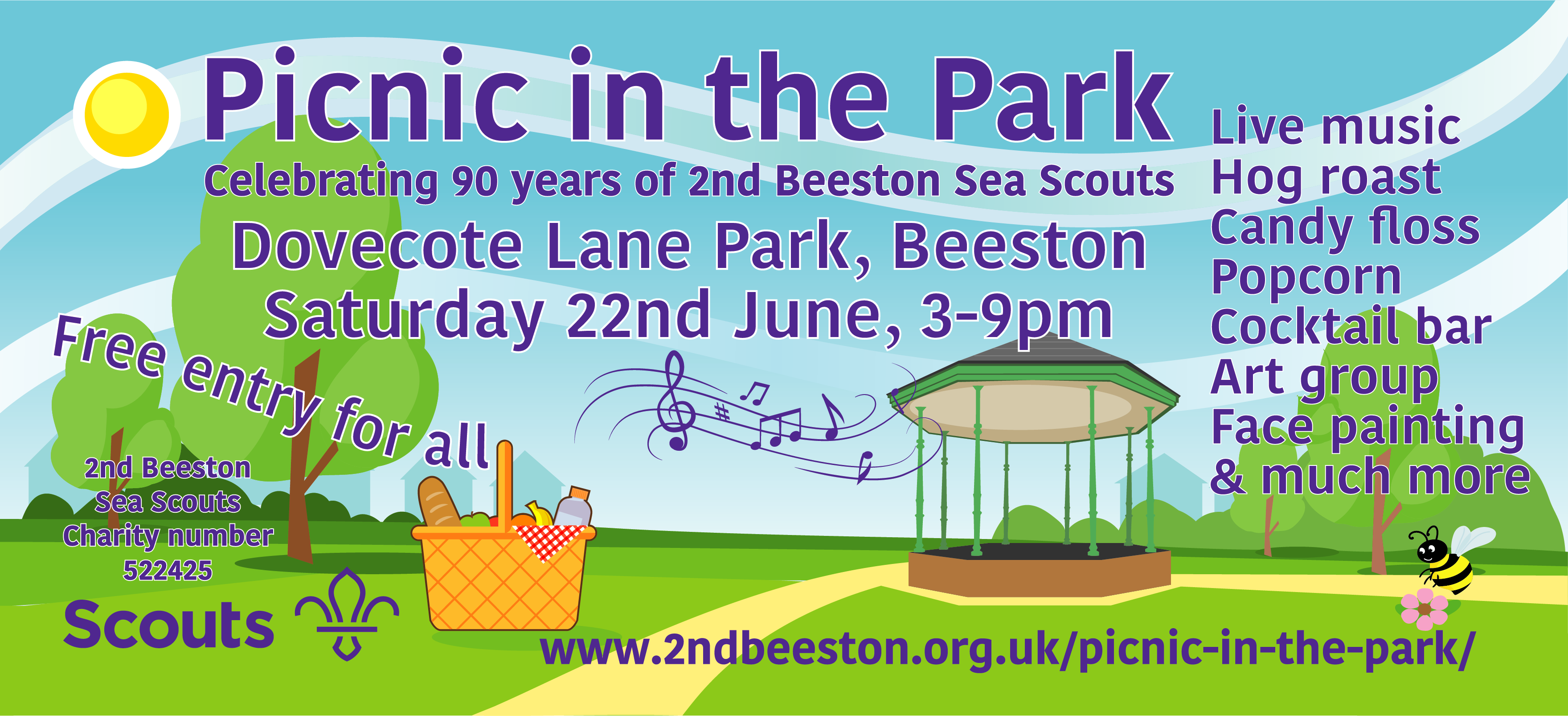 Beeston Picnic in the Park event.