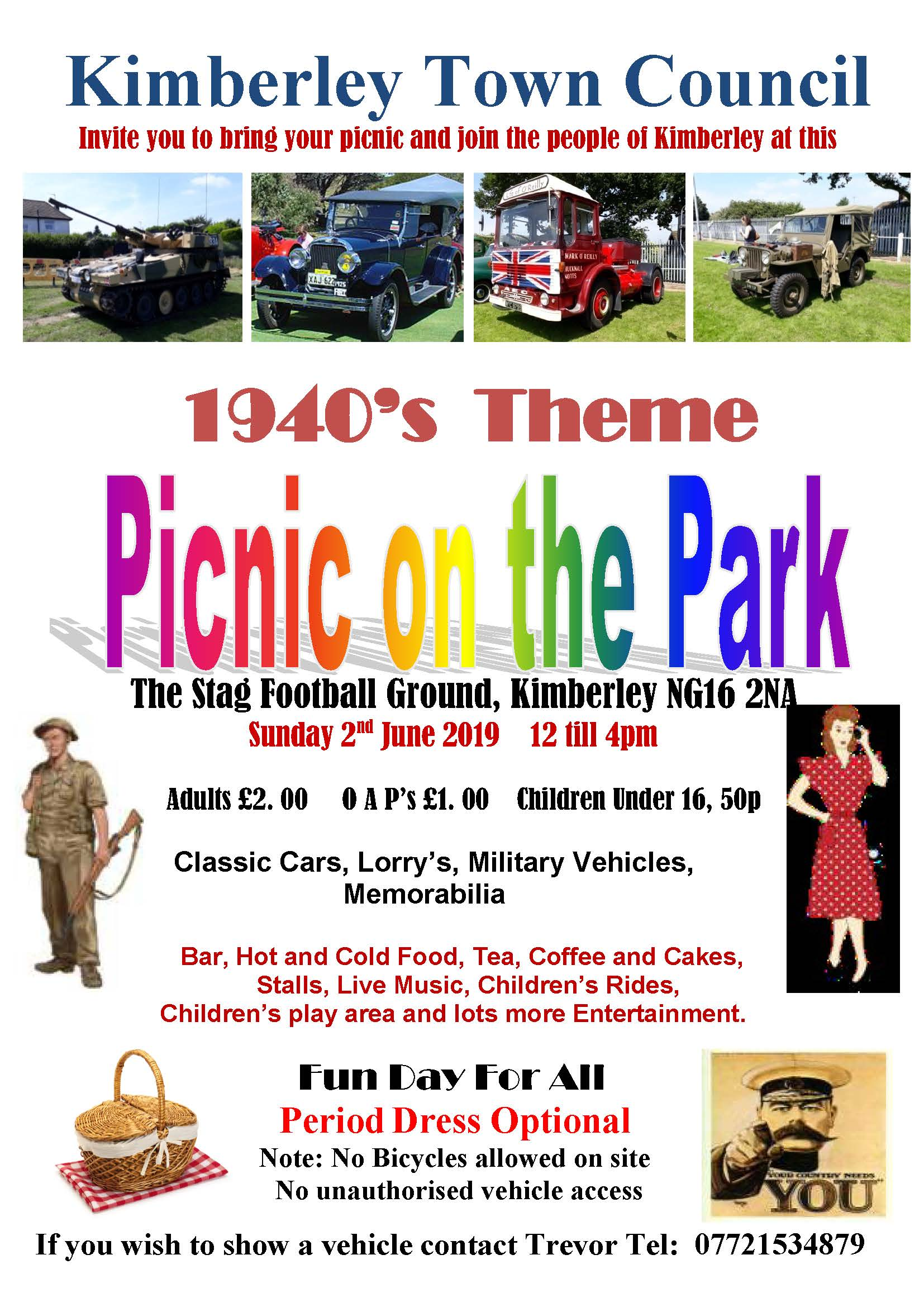 1940s Picnic on the Park event.