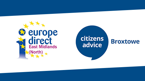 Europe Direct and Citizens Advice Broxtowe Logos