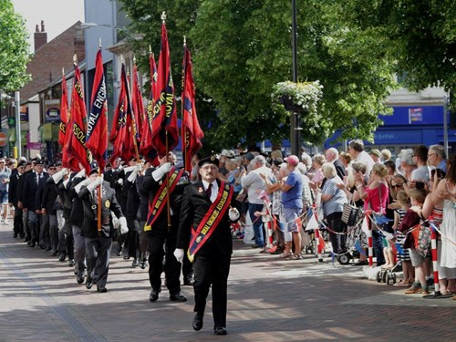 Veterans at Beeston Freedom Parade