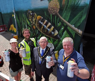 Jeanie Barton, Russ Meehan, The Mayor Councillor Michael Brown and Deputy Leader, Councillor Steve Carr