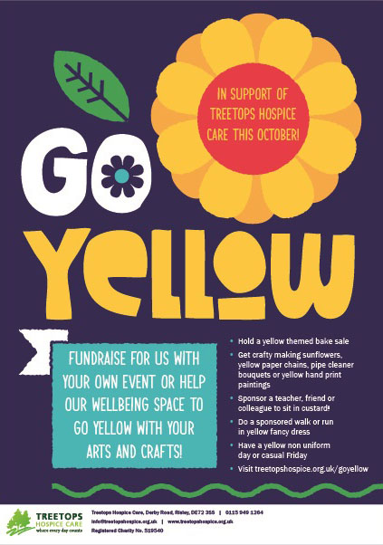 Go Yellow and raise some funds for your local Hospice  event.