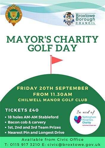 Mayor's Charity Golf Day Poster