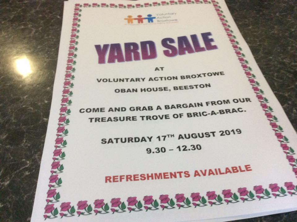 Yard Sale event.