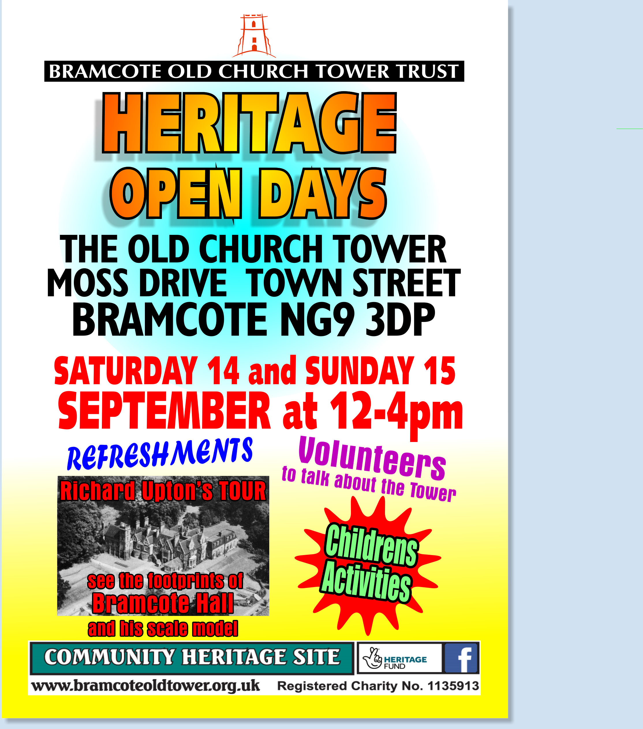 Old Church Tower Bramcote Heritage Open Days event.