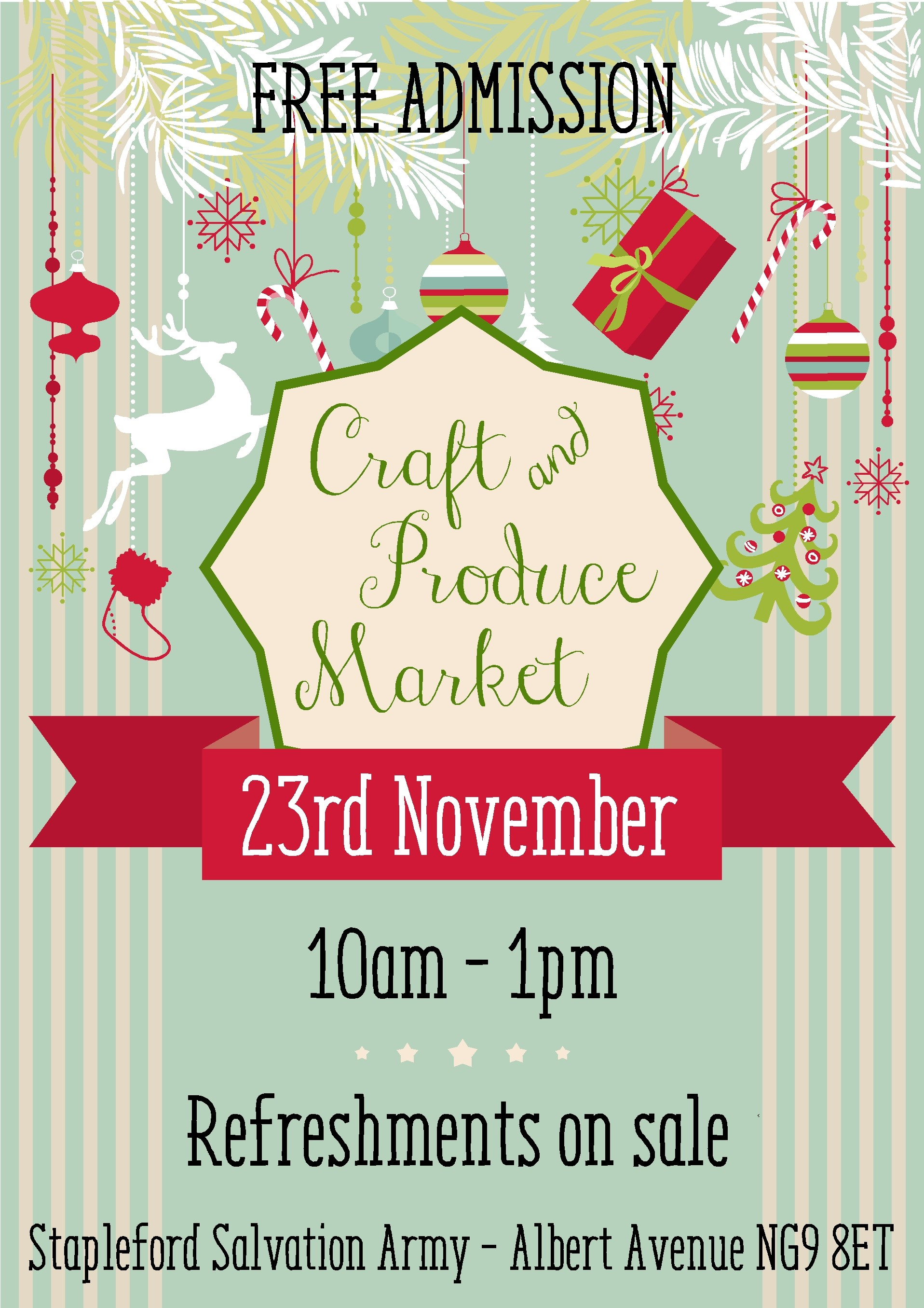 Stapleford Craft and Produce Market event.