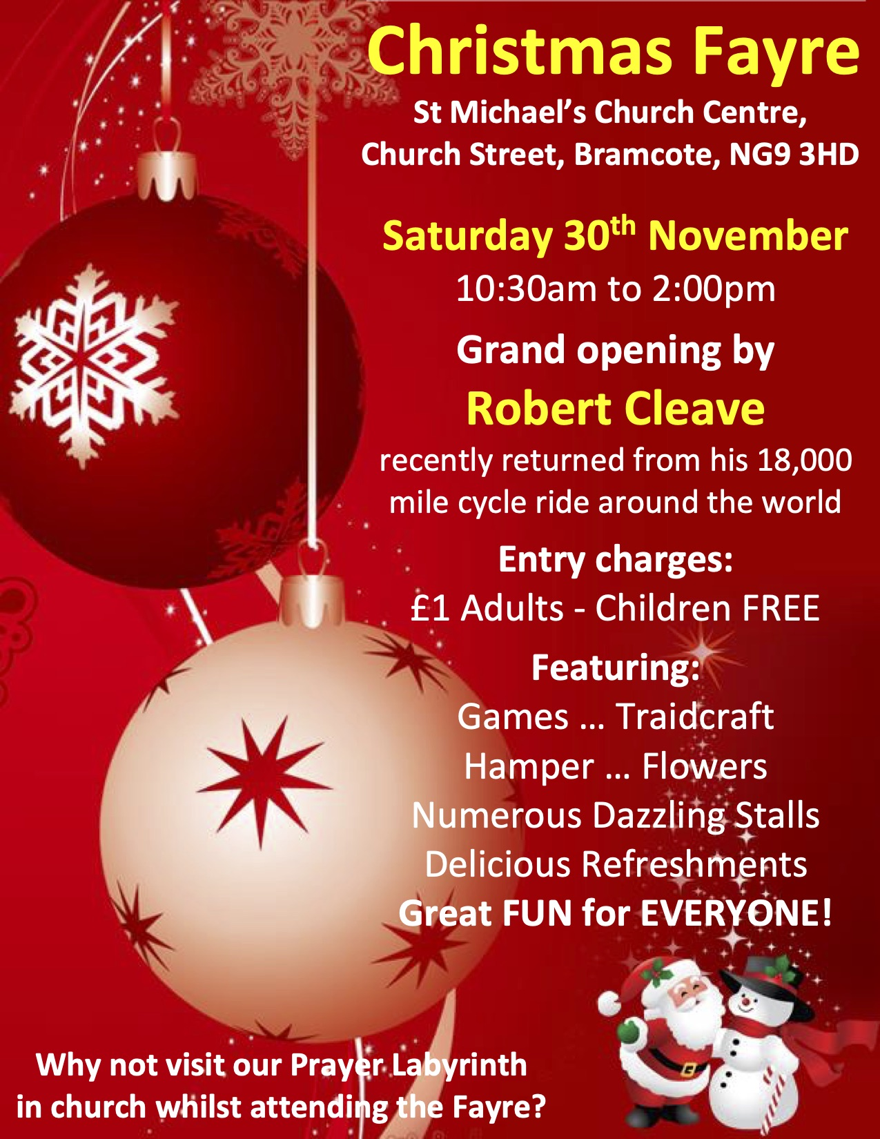 Christmas Fayre event.