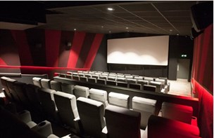 Arc cinema sample image inside with screen and seating area