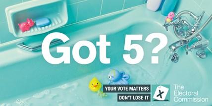 Got 5? register to vote